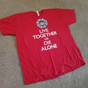 LOST Live Together or Die Alone 2x shirt